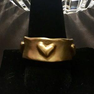 RLM Studio 18K Clad Brass Heart Band Ring